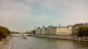 Замок Conciergerie - бывшие королевский дворец и тюрьма, Париж, Франция Стоковая Фотография RF