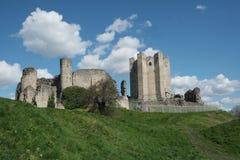 Замок Conisbrough в южном Йоркшире стоковая фотография