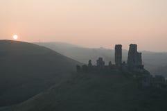 Замок Corfe стоковое изображение rf