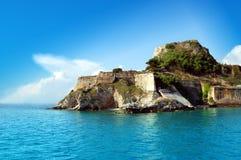 замок corfu стоковое изображение rf