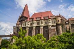 Замок Corvin в Hunedoara, Румынии Стоковое Изображение RF