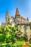 Замок Corvin в Hunedoara, Румынии Стоковое Фото