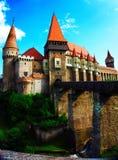 Замок Corvin или замок Hunyad, Hunedoara, Румыния стоковое фото rf