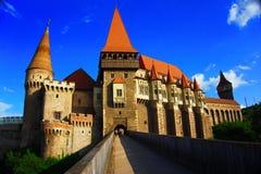 Замок Corvin или замок Hunyad, Hunedoara, Румыния стоковая фотография rf