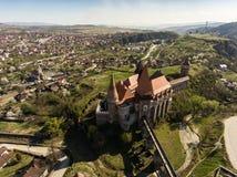 Замок Corvin от Hunedoara Стоковые Изображения