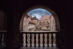 Замок Corvin Huniazilor от Hunedoara, Румынии стоковые изображения