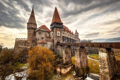 Замок Corvinesti, Hunedoara, Румыния Стоковые Фото