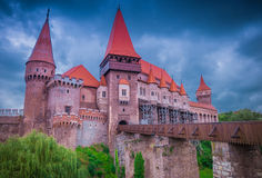 Замок Corvins, Румыния стоковые фото