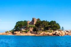 Замок cosaeres в Атлантическом океане во Франции стоковая фотография rf