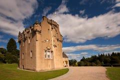 Замок Crathes, Banchory, Aberdeenshire, Шотландия Стоковые Изображения RF