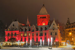 замок d lausanne ouchy Швейцария Стоковое Изображение RF