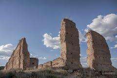 Замок Daroca в провинции Сарагосы, Испании стоковые изображения