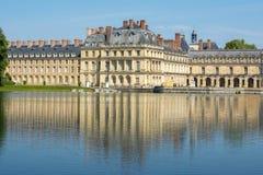 Замок de Фонтенбло дворца Фонтенбло около Парижа, Франции стоковое фото rf