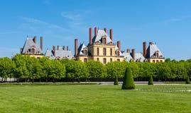 Замок de Фонтенбло дворца Фонтенбло около Парижа, Франции стоковые изображения