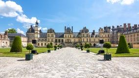 Замок de Фонтенбло дворца Фонтенбло, Франция стоковое фото rf
