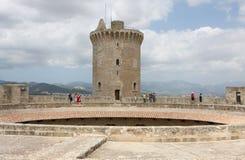 Замок de Bellver. Стоковые Фотографии RF