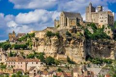 Замок de beynac Франция Стоковое Изображение RF