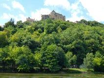 Замок de Castelnaud Франции стоковая фотография rf