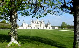 Замок de Chambord самый большой замок в Loire Valley, Франции стоковые изображения