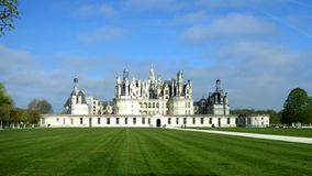 Замок de Chambord самый большой замок в Loire Valley, Франции стоковая фотография rf