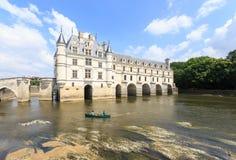 Замок de Chenonceau был построен в 15-16 столетиях Стоковая Фотография