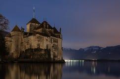 Замок de Chillon, Монтрё, Siwtzerland стоковая фотография