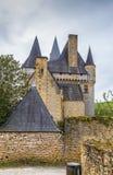 Замок de Clerans, Свят-Леон-sur-Vezere, Франция стоковое фото rf