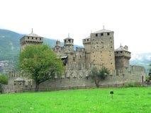 Замок de Fenis, Aosta (Италия) Стоковые Изображения RF