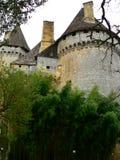 Замок de Lanquais (Франция) Стоковая Фотография