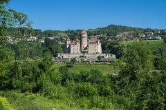 Замок de Montrottier (замок Montrottier) около Анси, Haute Савойя, Франции стоковые фотографии rf