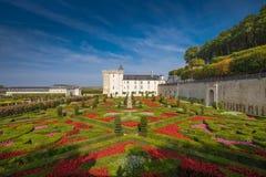 Замок de Villandry, Loire Valley, франция стоковое изображение rf