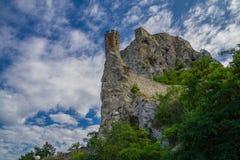 Замок Devin в Словакии стоковое изображение
