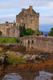 замок donan eilean Шотландия Стоковые Фото
