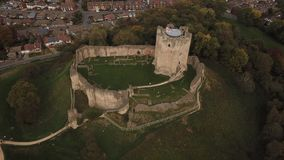 замок doncaster Англия Великобритания conisbrough стоковое изображение rf