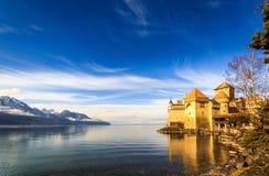 Замок du chillon Монтрё Стоковое Изображение RF