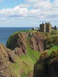Замок Dunnottar, береговая линия Шотландии северная восточная Стоковая Фотография RF