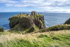 Замок Dunnottar губит - Stonehaven - Шотландия Стоковые Изображения