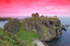 замок dunnottar Шотландия Великобритания Стоковое фото RF