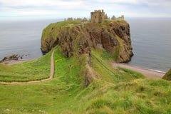 замок dunnottar Шотландия Великобритания Стоковое Фото