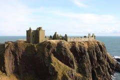 замок dunnottar Шотландия Стоковое Изображение RF