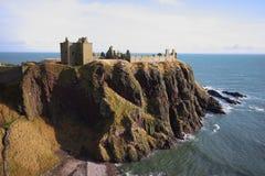 замок dunnottar Шотландия Стоковое фото RF