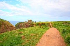замок dunnottar Шотландия stonehaven Стоковое Фото