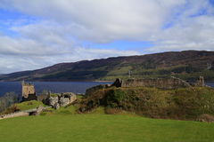 Замок Dunnottar, Aberdeenshire, Шотландия Стоковое фото RF
