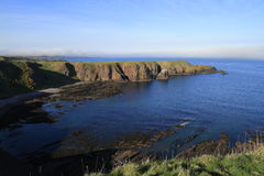 Замок Dunnottar, Aberdeenshire, Шотландия Стоковые Изображения RF