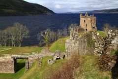 Замок Dunnottar, Aberdeenshire, Шотландия Стоковые Фото