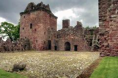 Замок Edzell в Шотландии стоковая фотография rf