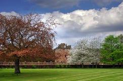 Замок Edzell на весенний день стоковое изображение