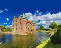 Замок Egeskov, Фюн, Дания стоковые изображения