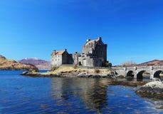 Замок Eilean Donan в Шотландии Стоковое фото RF