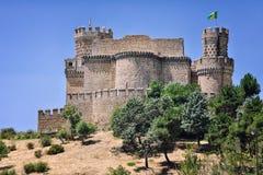 замок el manzanares реальный Стоковое Изображение